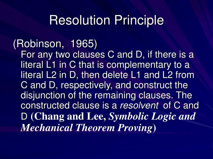 Resolution Principle