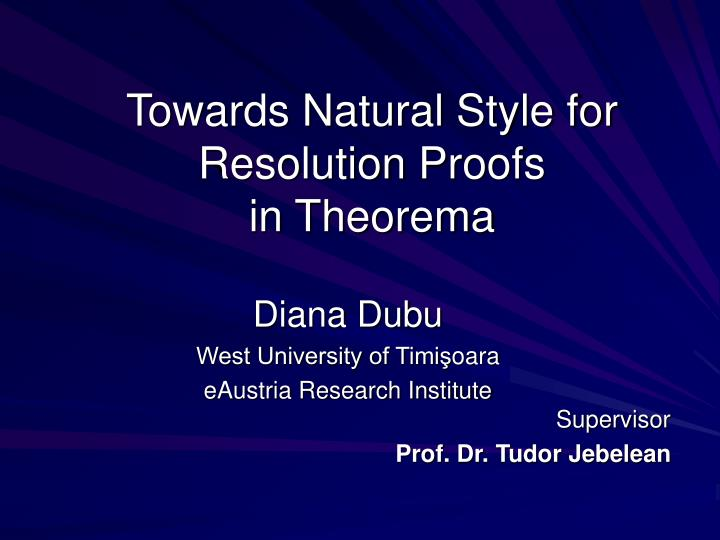Towards Natural Style for Resolution
