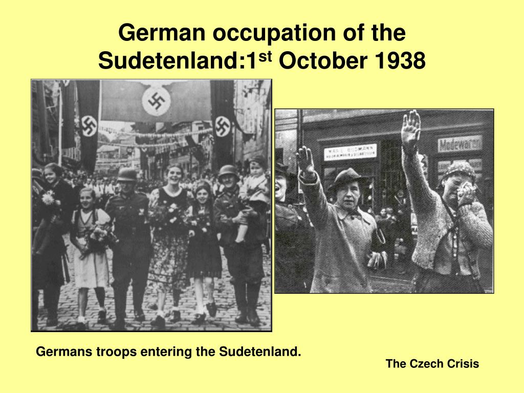 German occupation of the Sudetenland:1