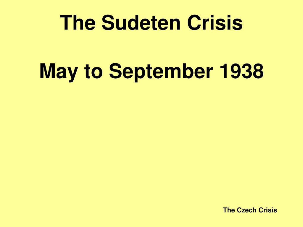 The Sudeten Crisis