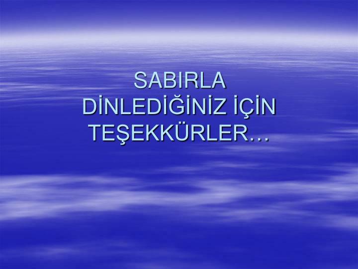 SABIRLA