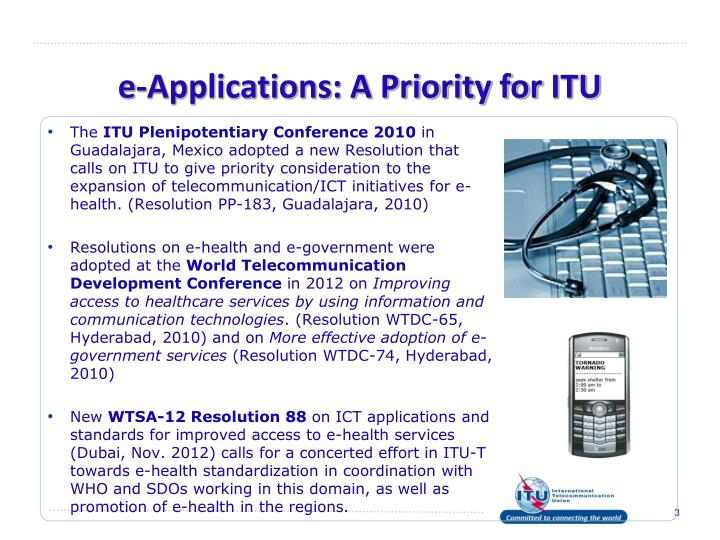 e-Applications: A Priority for