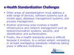 e health standardization challenges1