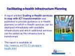 facilitating e health infrastructure planning
