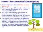 itu who non communicable diseases ncds