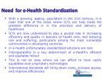 need for e health standardization
