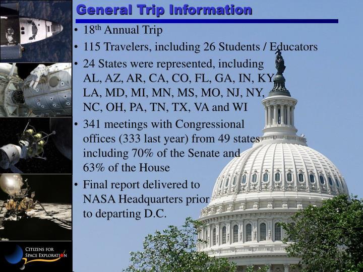General Trip Information