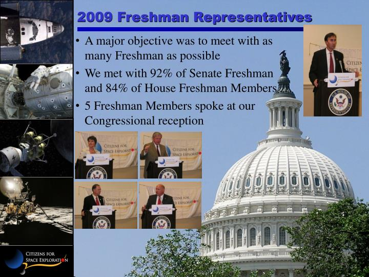 2009 Freshman Representatives