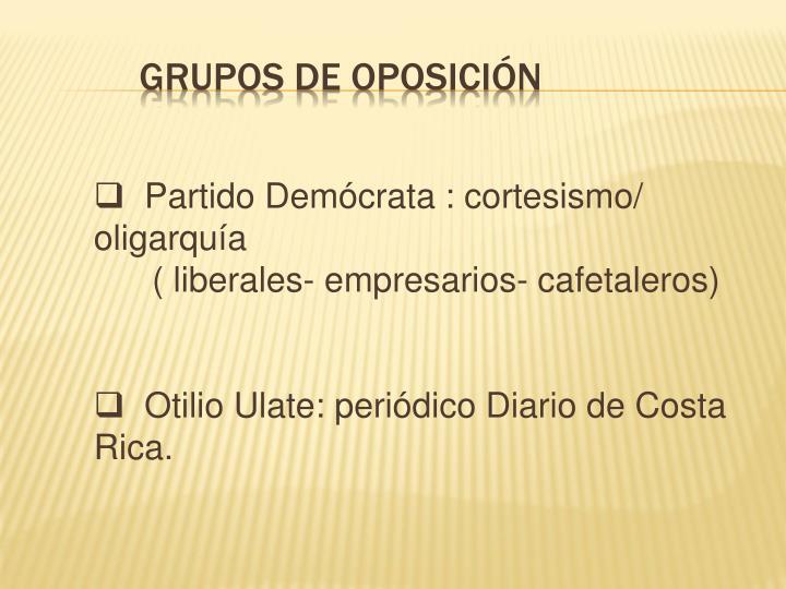 Grupos de Oposición