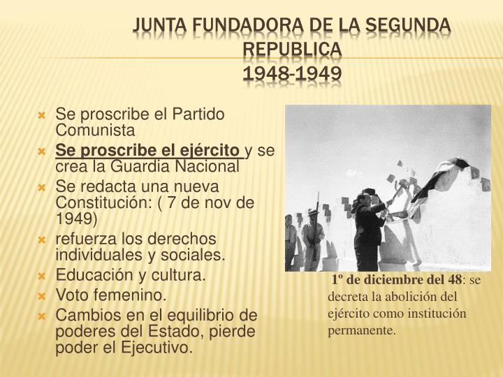 JUNTA FUNDADORA DE LA SEGUNDA REPUBLICA
