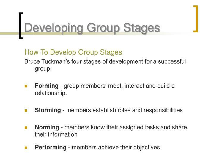 Developing Group Stages