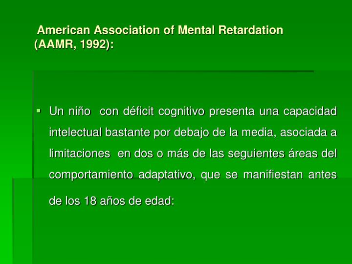 mental retardation in american society essay An in-depth analysis and critique of the human resource development function of a mental health/mental retardation organization abstract we will write a custom essay.