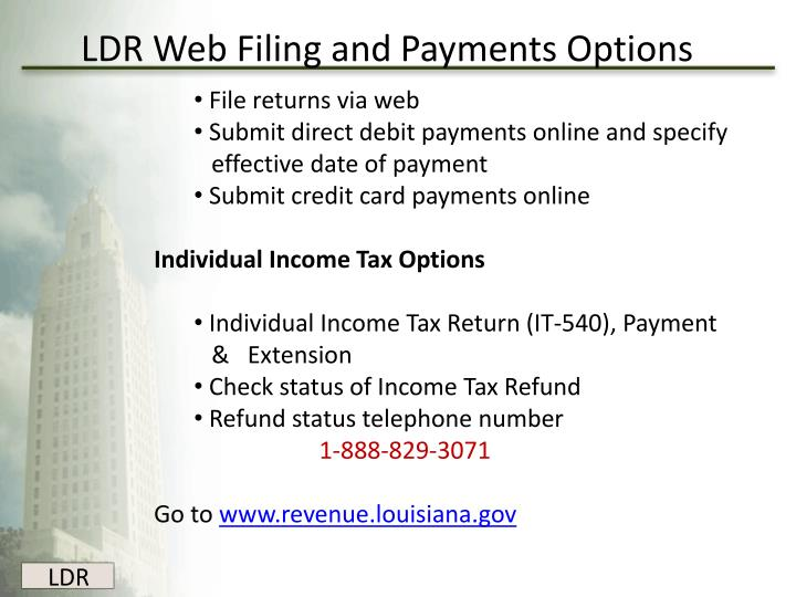 LDR Web Filing and