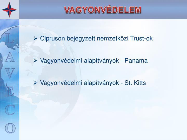 Cipruson bejegyzett nemzetközi Trust-ok