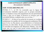 caso gonzales arrivasplata avocamiento indebido