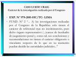 caso luksic craig car cter de la investigaci n realizada por el congreso