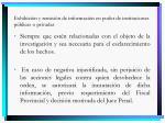 exhibici n y remisi n de informaci n en poder de instituciones p blicas o privadas