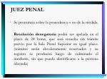 juez penal