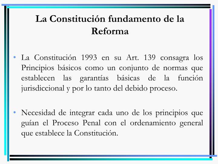 La Constitución fundamento de la