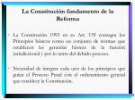 la constituci n fundamento de la reforma