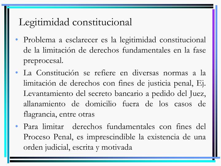 Legitimidad constitucional