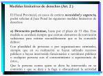 medidas limitativas de derechos art 2