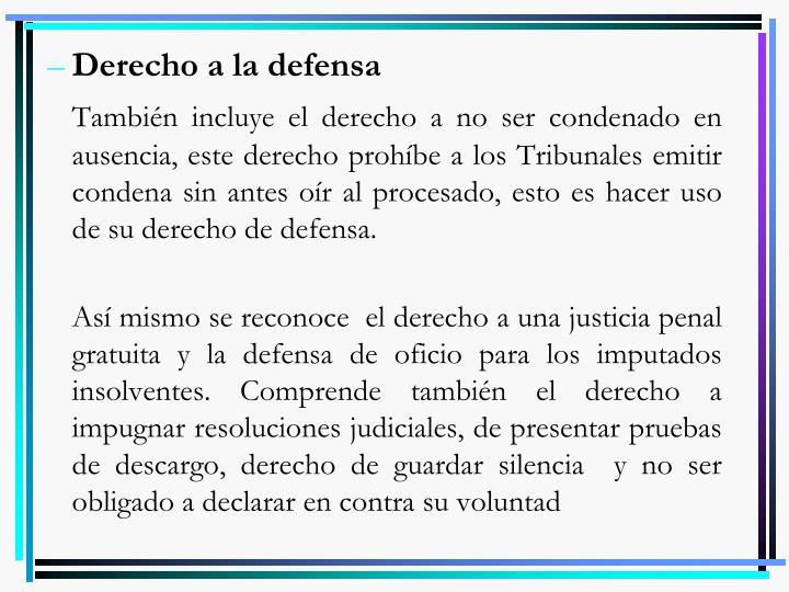 Derecho a la defensa
