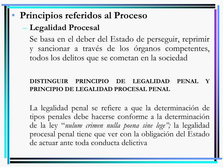 Principios referidos al Proceso