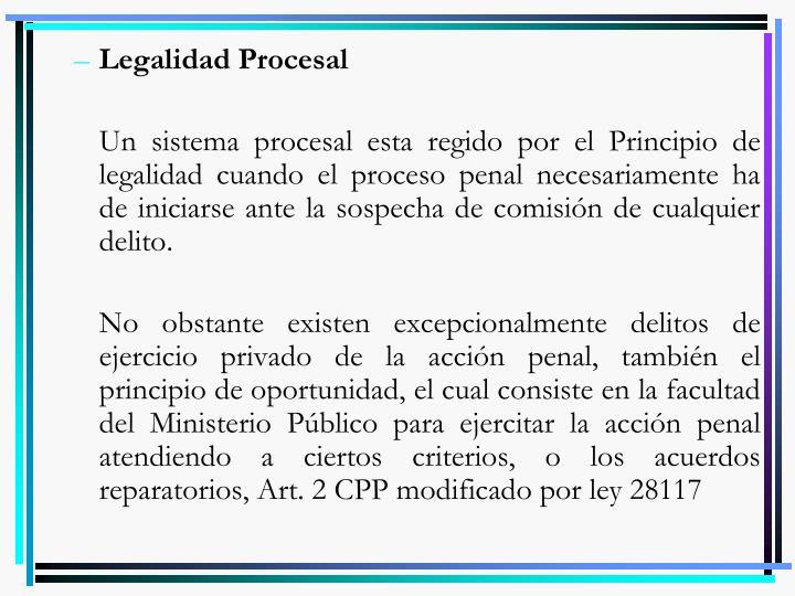 Legalidad Procesal