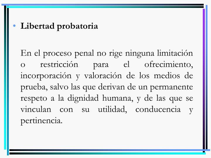 Libertad probatoria