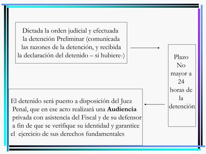 Dictada la orden judicial y efectuada