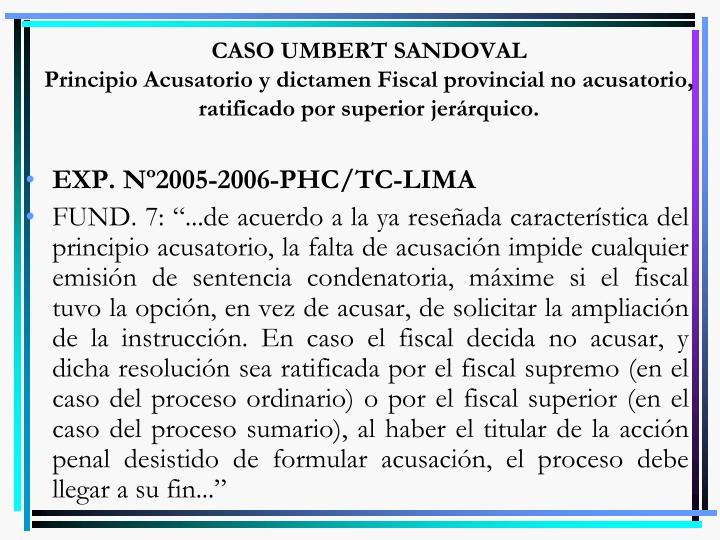 CASO UMBERT SANDOVAL