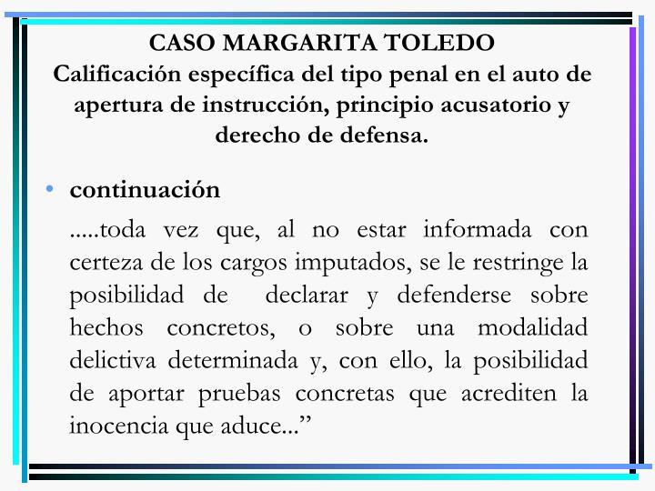 CASO MARGARITA TOLEDO