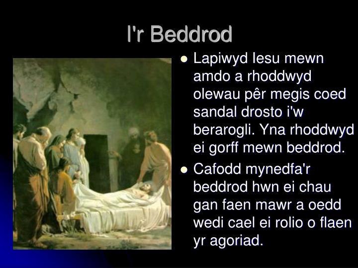 I'r Beddrod