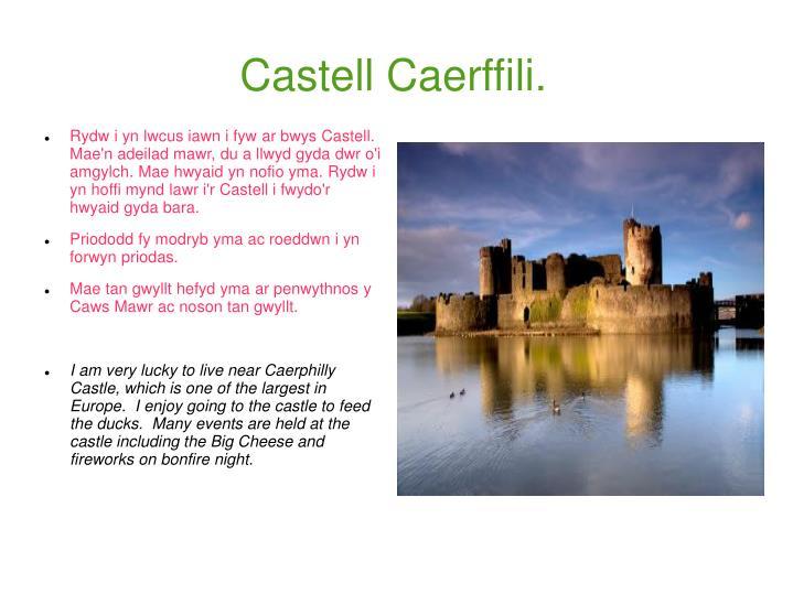 Castell Caerffili.