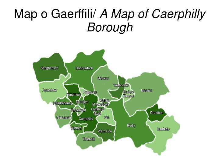 Map o Gaerffili/