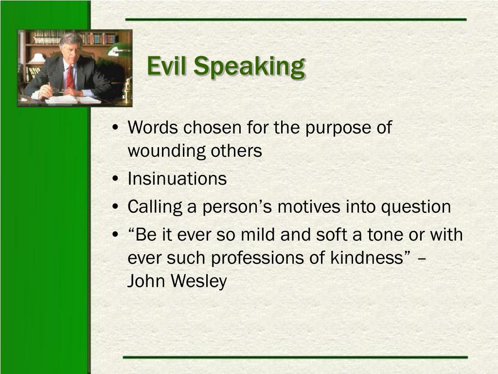 Evil Speaking