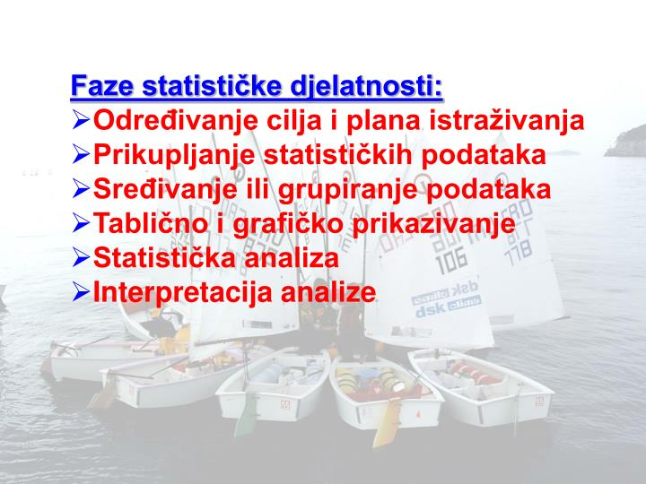 Faze statističke djelatnosti: