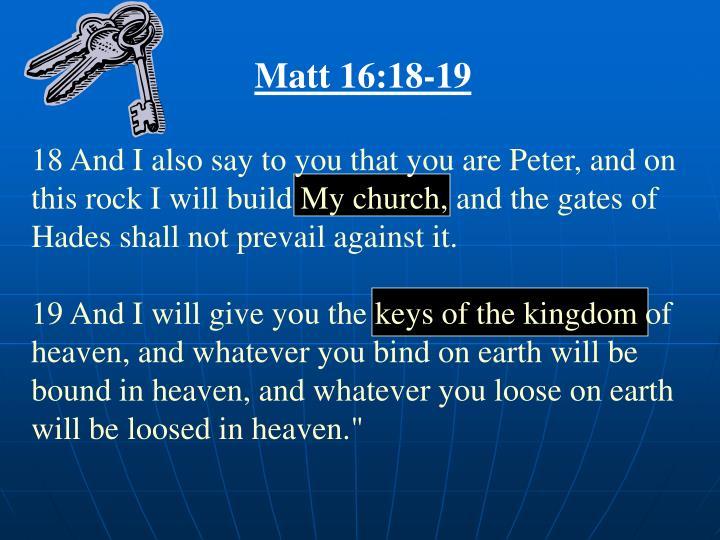 Matt 16:18-19
