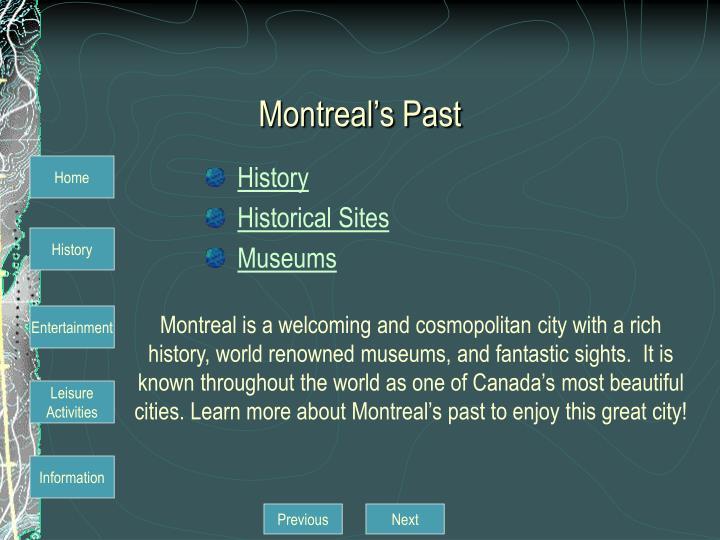 Montreal's Past