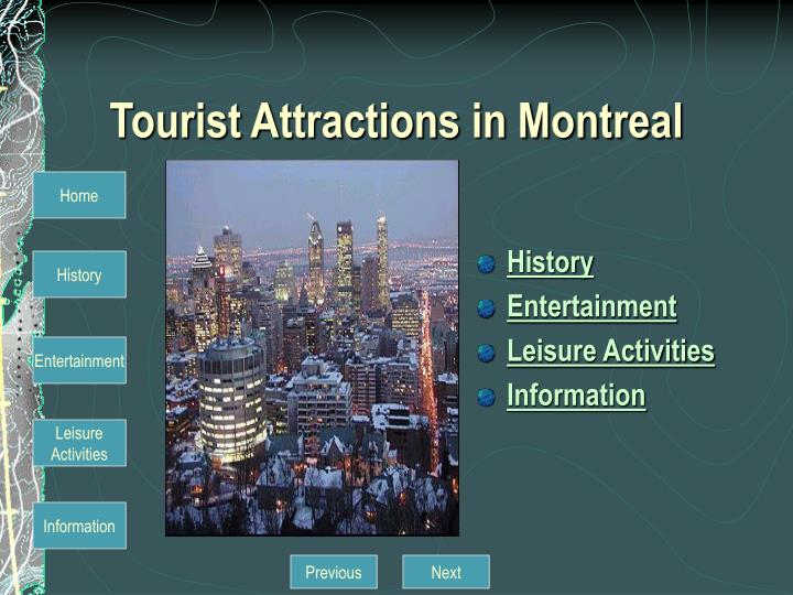 Tourist attractions in montreal