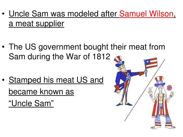 Uncle Sam was modeled after