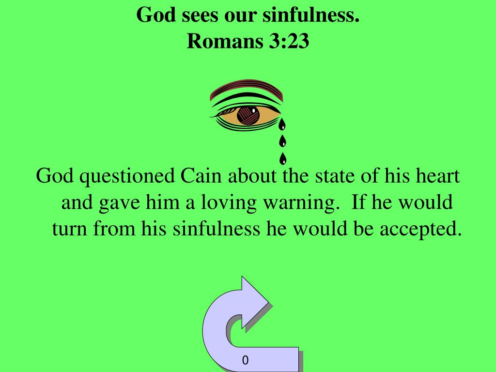 God sees our sinfulness.