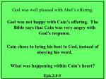 god was well pleased with abel s offering