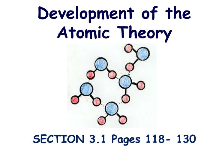 Ppt Development Of The Atomic Theory Powerpoint