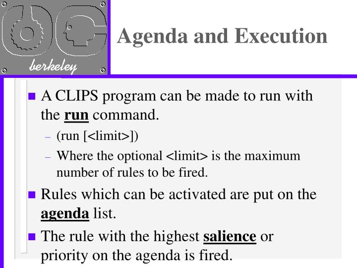 Agenda and Execution
