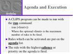 agenda and execution