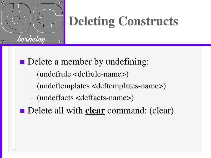 Deleting Constructs