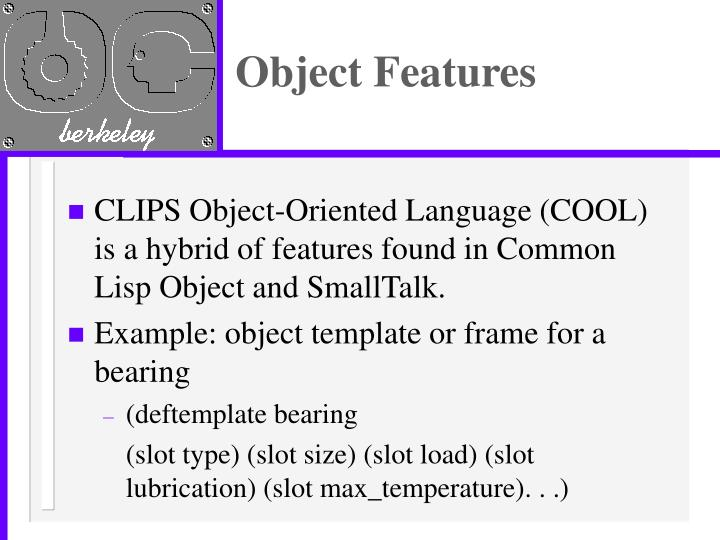 Object features