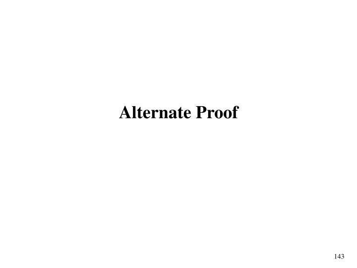 Alternate Proof